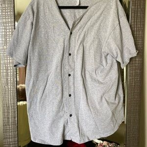 XL gray baseball oversized shirt American apparel